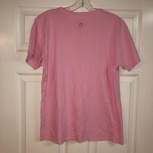 Life Is Good Tops - Life Is Good Light Pink Tee w/ Daisy